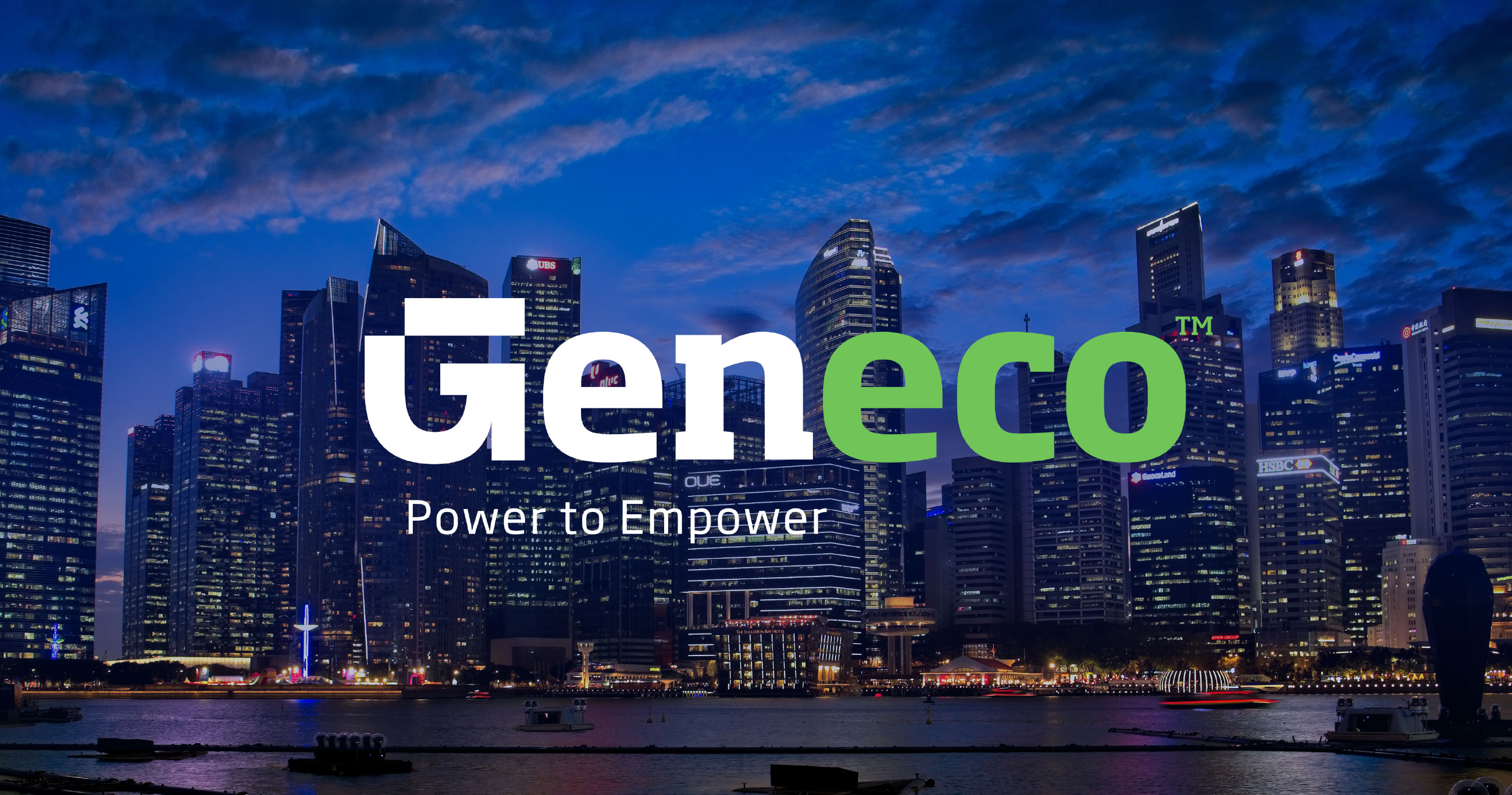 Brandient designed the identity for Singapore's Geneco